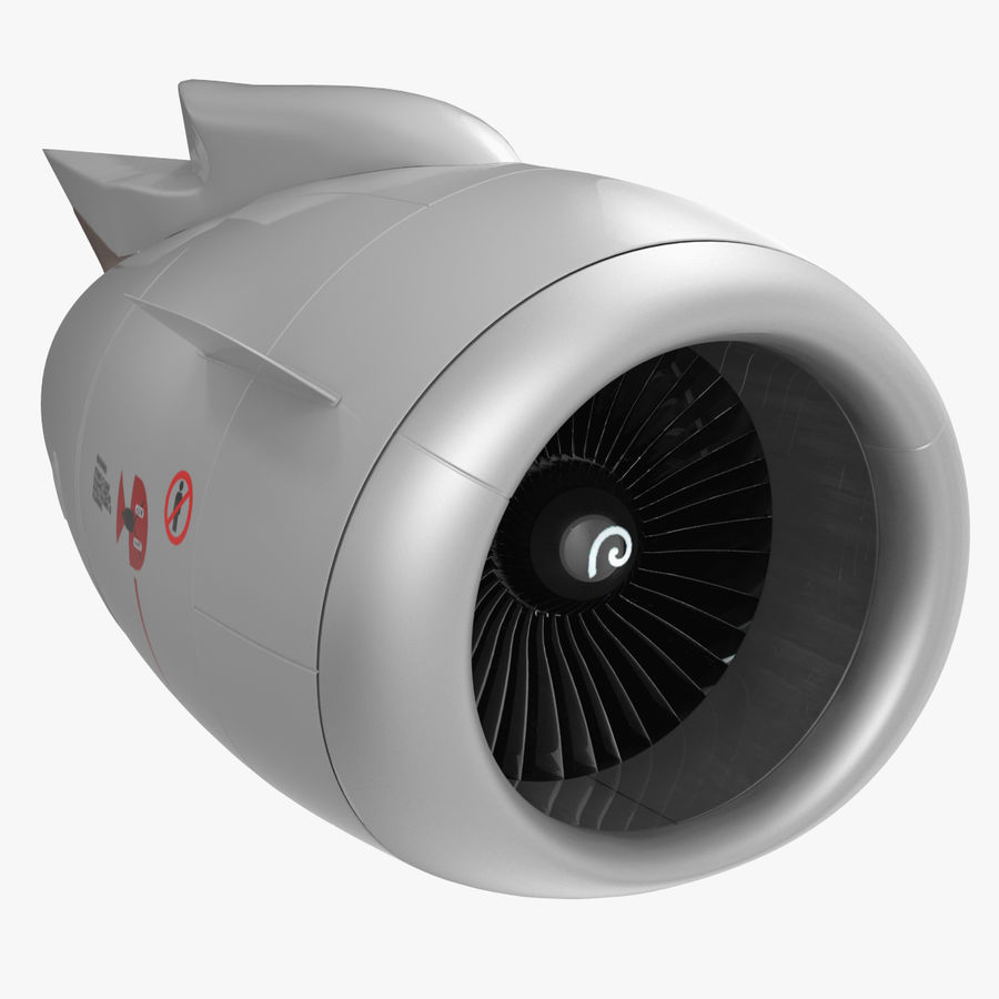 Motor de Turbofan de jatos de aeronaves royalty-free 3d model - Preview no. 1