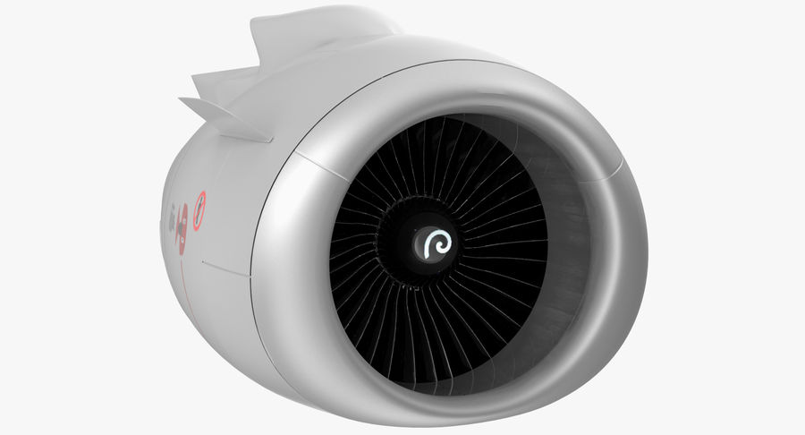Aircraft Jet Turbofan Engine royalty-free 3d model - Preview no. 4