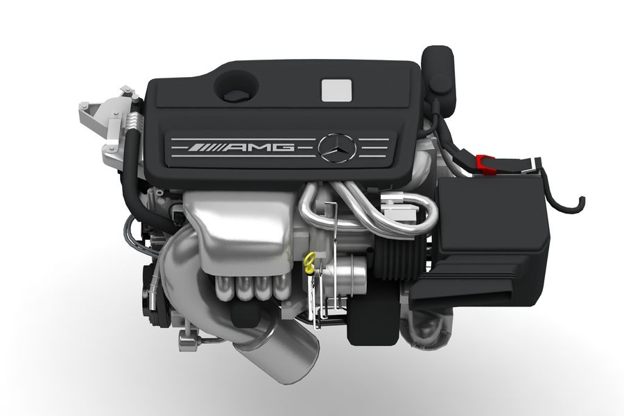 Moteur de voiture royalty-free 3d model - Preview no. 2