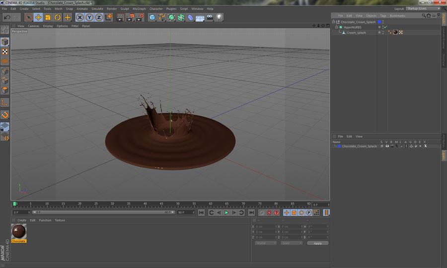 Chocolate Crown Splash royalty-free 3d model - Preview no. 14