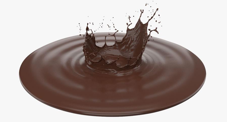 Chocolate Crown Splash royalty-free 3d model - Preview no. 6