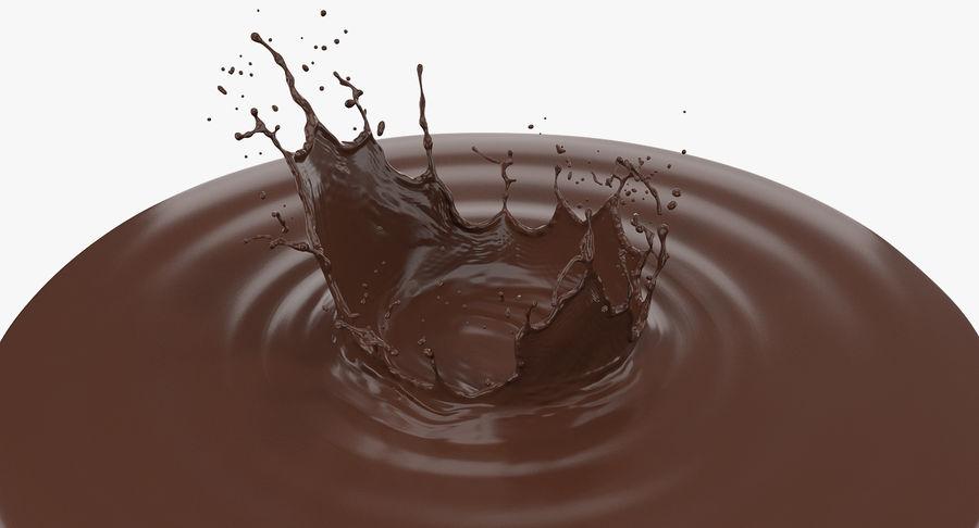 Chocolate Crown Splash royalty-free 3d model - Preview no. 2