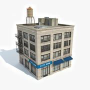 Apartment Building 21 3d model