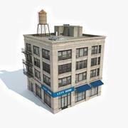 아파트 건물 21 3d model