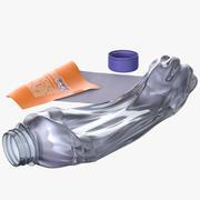 Plastic fles verpletterd 3d model