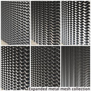 Collection de mailles en métal déployé 3d model
