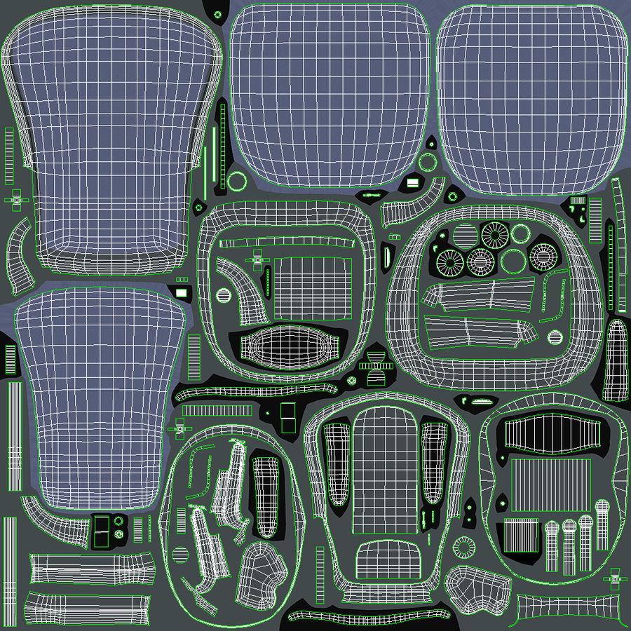 Président Aeron Herman Miller royalty-free 3d model - Preview no. 15