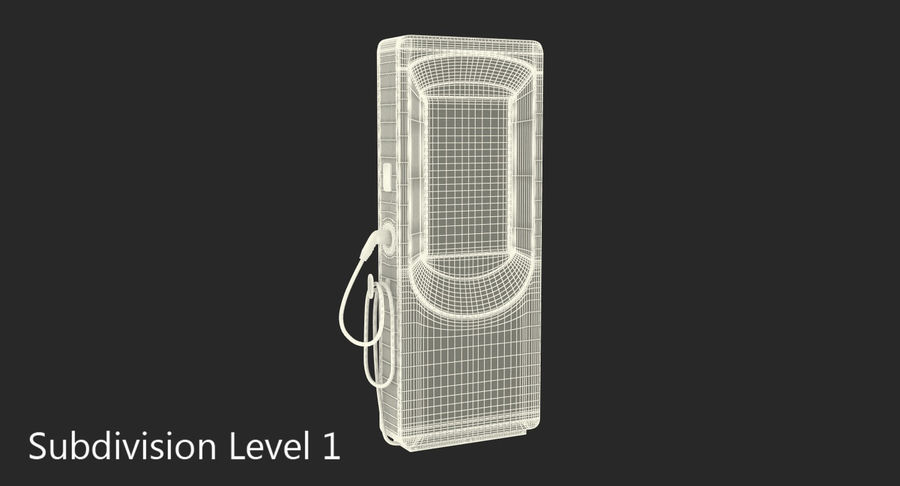 Electric Car Charging Station royalty-free 3d model - Preview no. 8