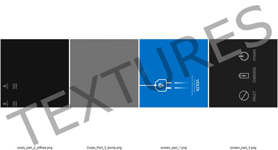 电动汽车充电站 royalty-free 3d model - Preview no. 10