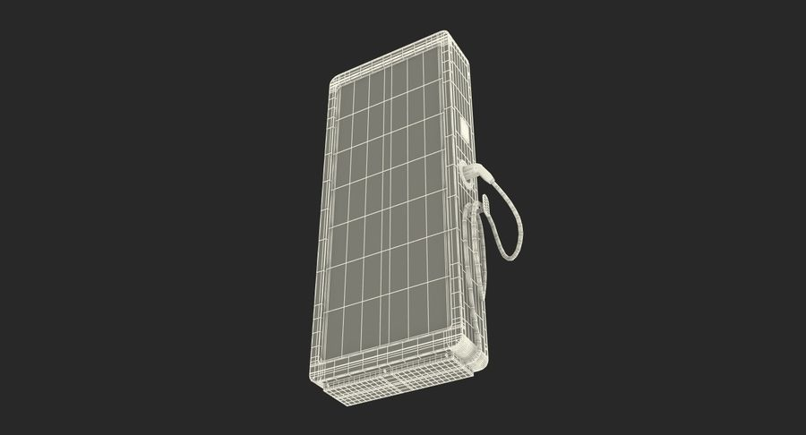 Electric Car Charging Station royalty-free 3d model - Preview no. 15