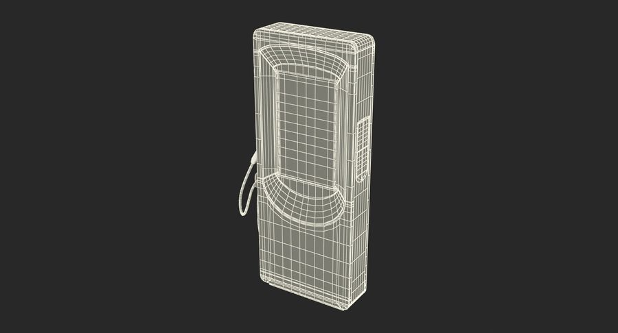 Electric Car Charging Station royalty-free 3d model - Preview no. 14
