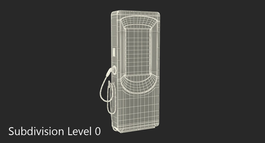 Electric Car Charging Station royalty-free 3d model - Preview no. 7