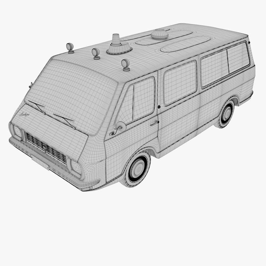 Ambulance royalty-free 3d model - Preview no. 6