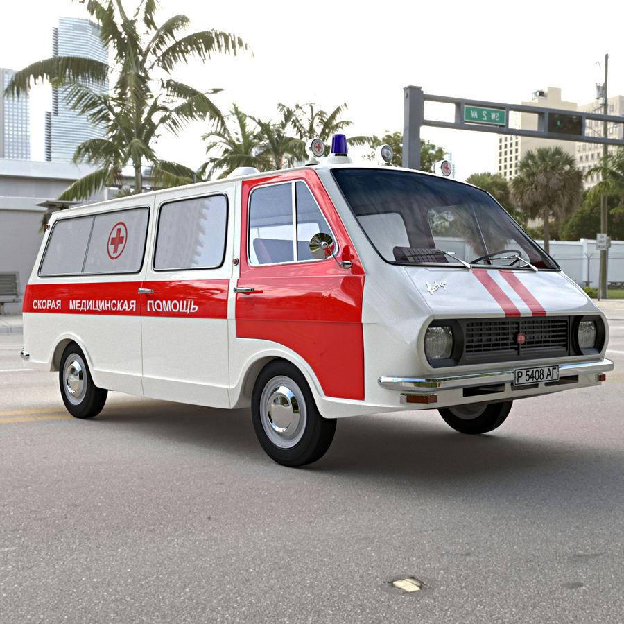Ambulance royalty-free 3d model - Preview no. 2
