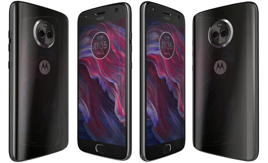 Motorola Moto X4 Super Black royalty-free 3d model - Preview no. 1