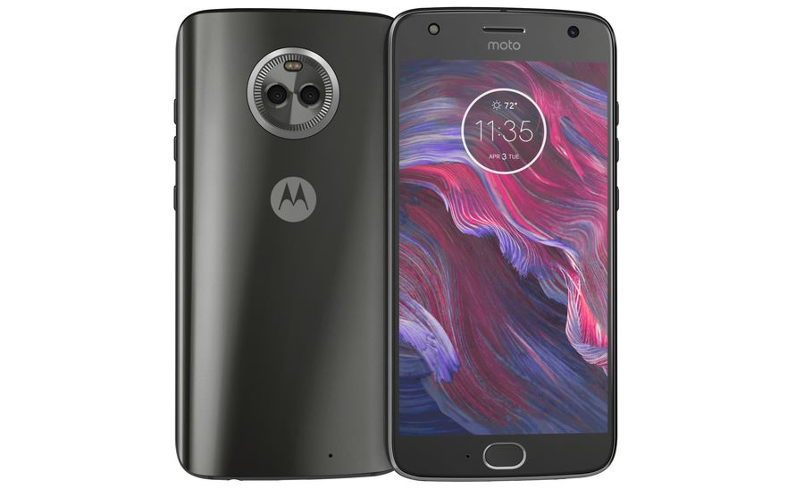 Motorola Moto X4 Super Black royalty-free 3d model - Preview no. 7
