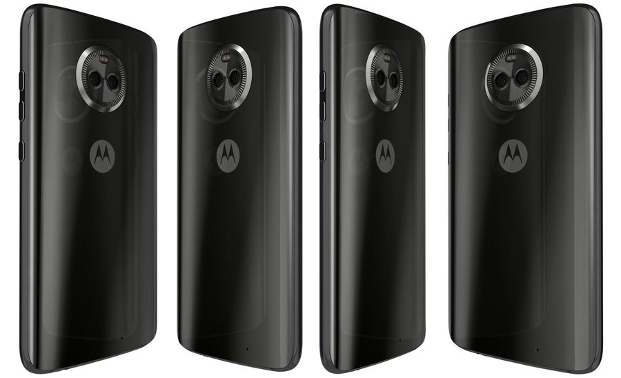 Motorola Moto X4 Super Black royalty-free 3d model - Preview no. 4