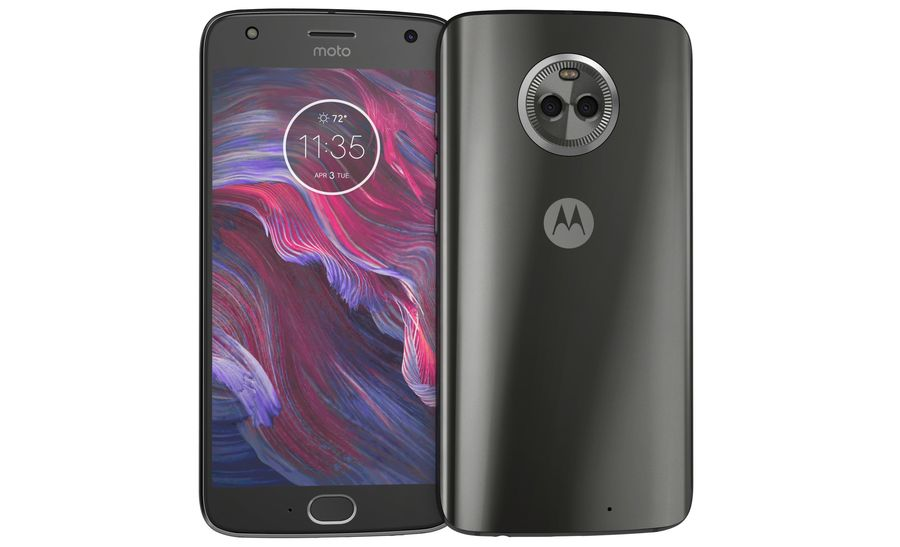 Motorola Moto X4 Super Black royalty-free 3d model - Preview no. 8