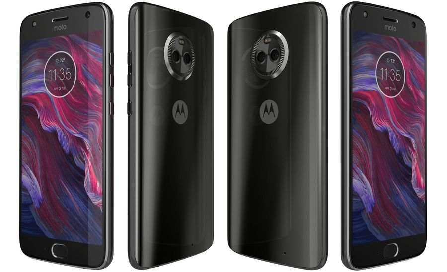 Motorola Moto X4 Super Black royalty-free 3d model - Preview no. 5