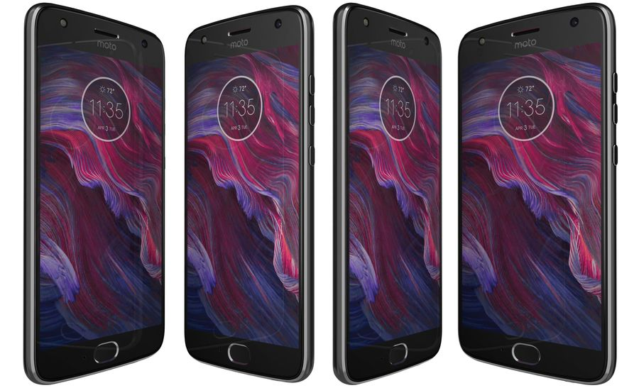 Motorola Moto X4 Super Black royalty-free 3d model - Preview no. 2