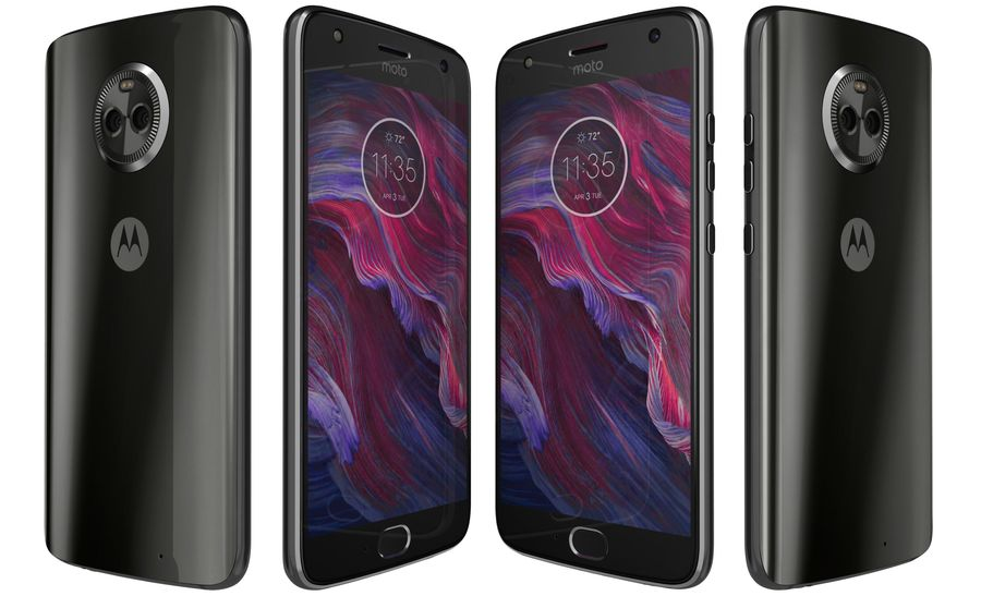 Motorola Moto X4 Super Black royalty-free 3d model - Preview no. 6