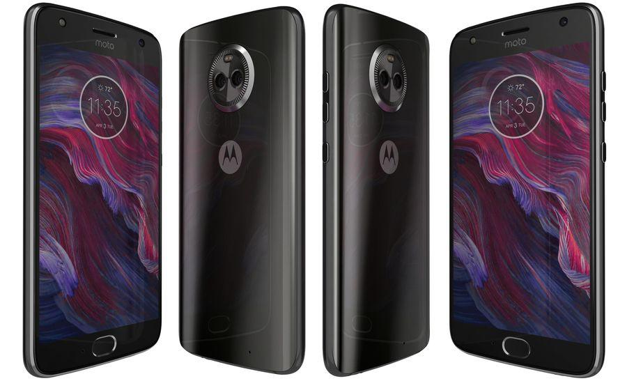 Motorola Moto X4 Super Black royalty-free 3d model - Preview no. 3