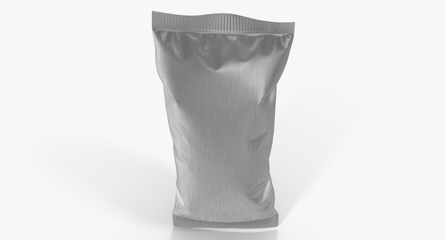 Small Foil Food Package royalty-free 3d model - Preview no. 7