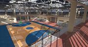 Palazzetto dello sport di pallacanestro 3d model