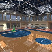 Basketball Sport Hall 3d model