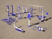 Utomhus gym 3d model