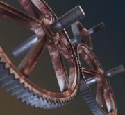 Rusty Gears 3d model