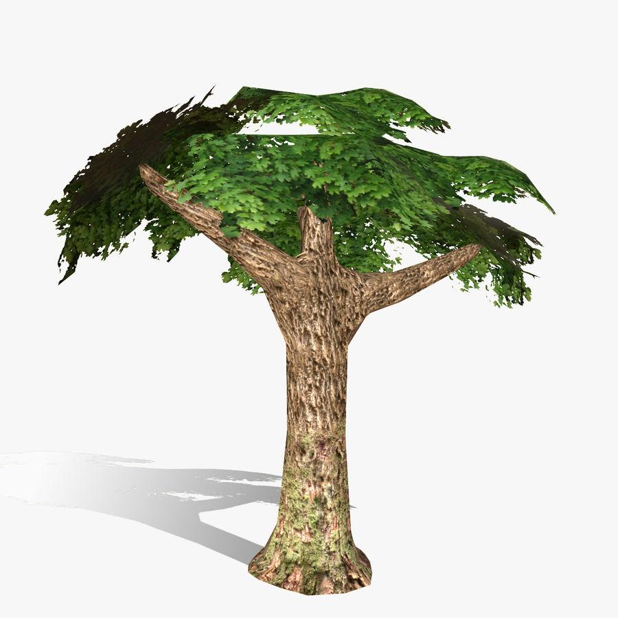 Låg poly träd royalty-free 3d model - Preview no. 3