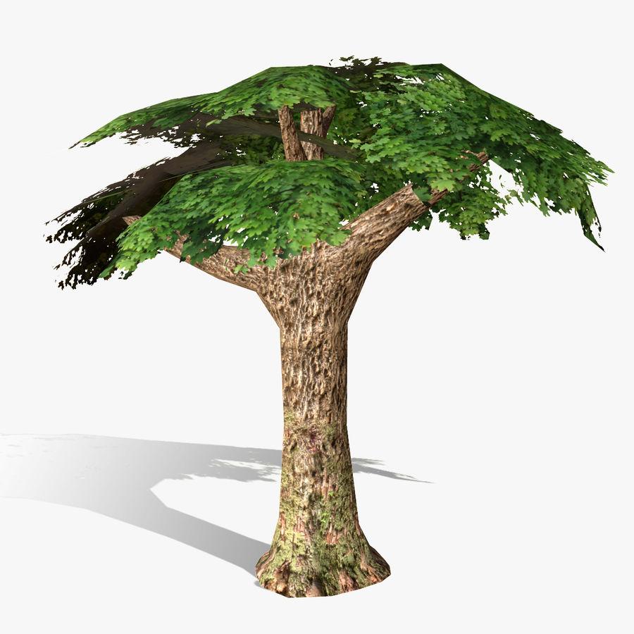 Låg poly träd royalty-free 3d model - Preview no. 1
