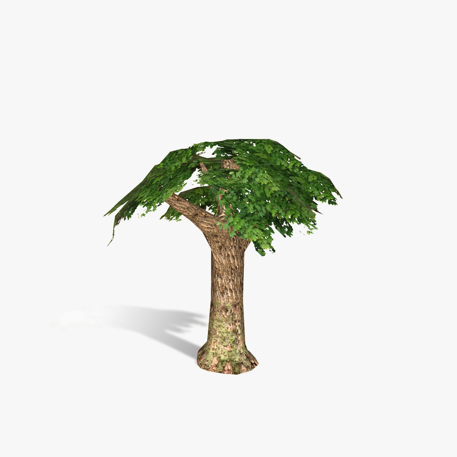 Låg poly träd royalty-free 3d model - Preview no. 6