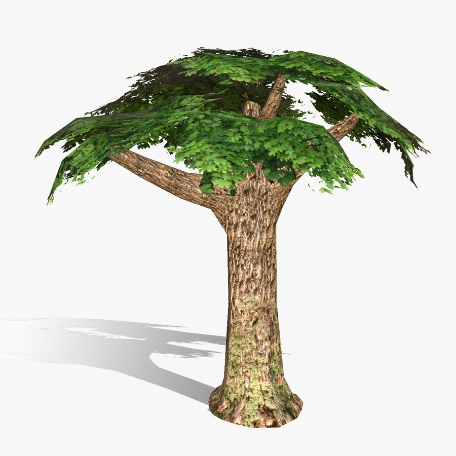 Låg poly träd royalty-free 3d model - Preview no. 2