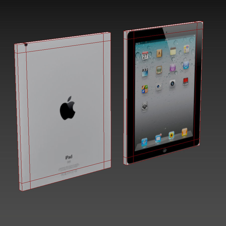 Apple iPad 2 royalty-free 3d model - Preview no. 3