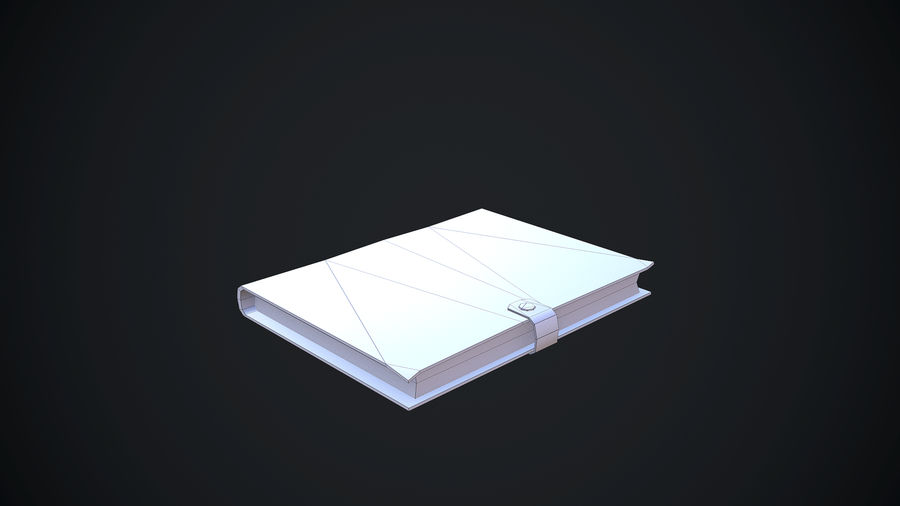 Notizbuch royalty-free 3d model - Preview no. 15