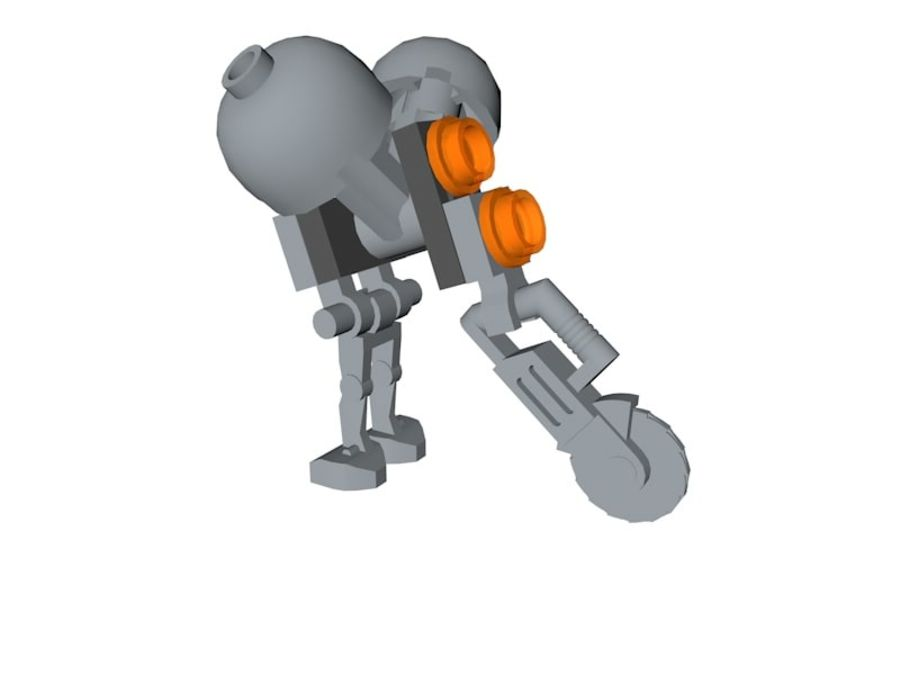 LEGO Star Wars Buzz Droid royalty-free 3d model - Preview no. 2