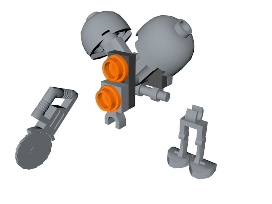 LEGO Star Wars Buzz Droid royalty-free 3d model - Preview no. 5