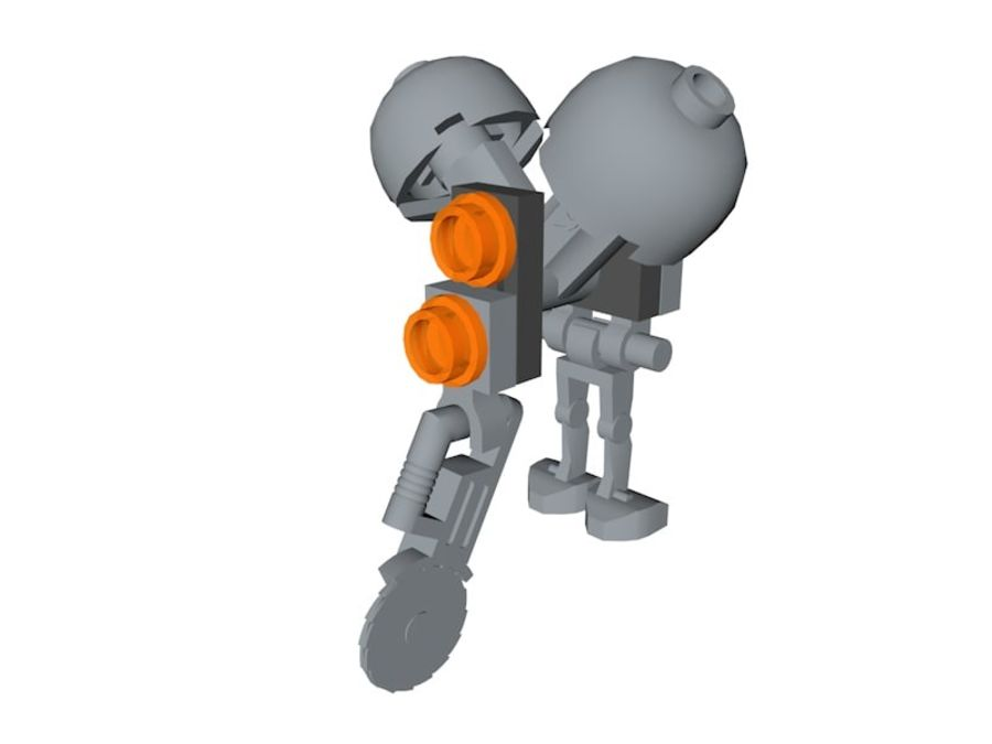 LEGO Star Wars Buzz Droid royalty-free 3d model - Preview no. 1