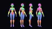 Stylizowana podstawowa siatka dla kobiet 3d model