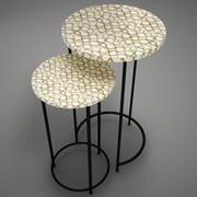 Coffe table rounded 3d model
