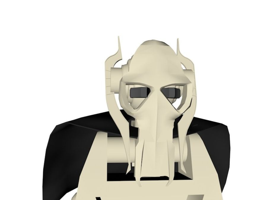 LEGO Star Wars Grevious Character royalty-free 3d model - Preview no. 4