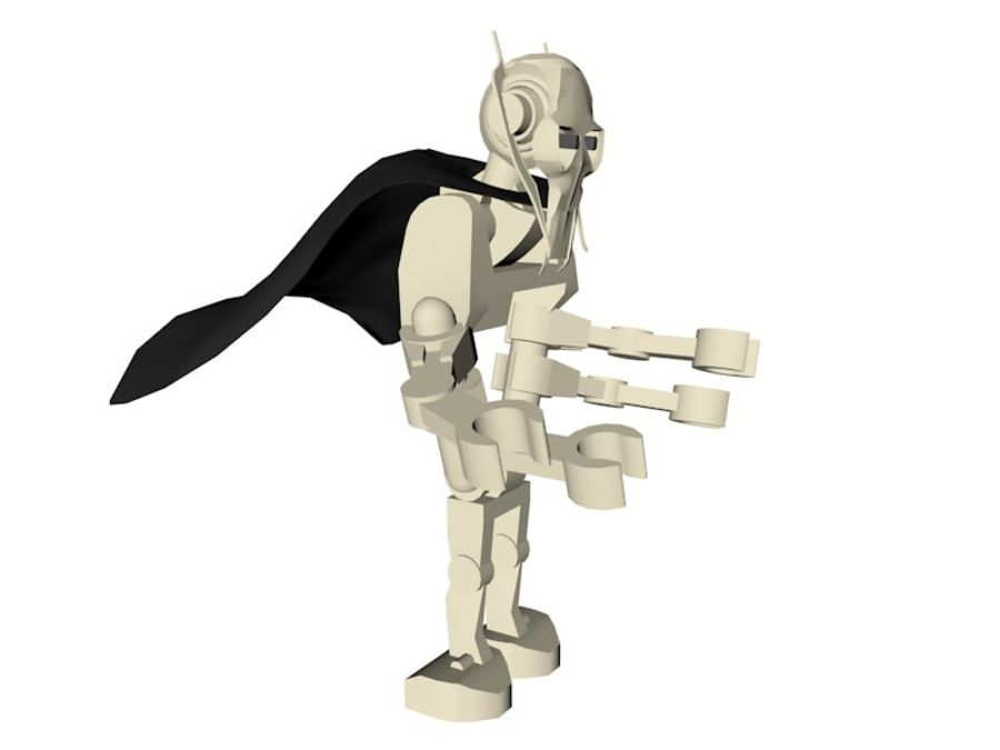 LEGO Star Wars Grevious Character royalty-free 3d model - Preview no. 3