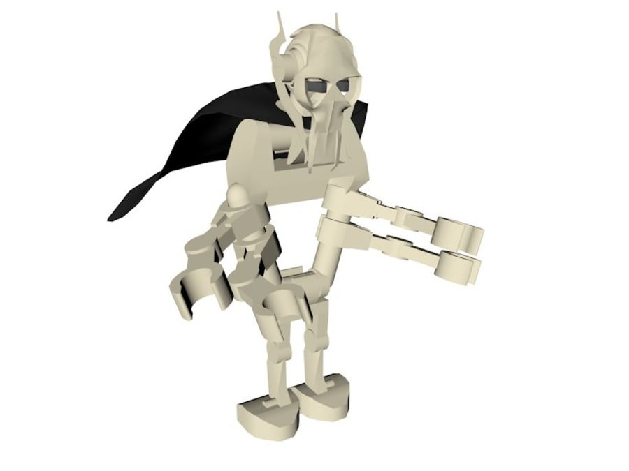 LEGO Star Wars Grevious Character royalty-free 3d model - Preview no. 2