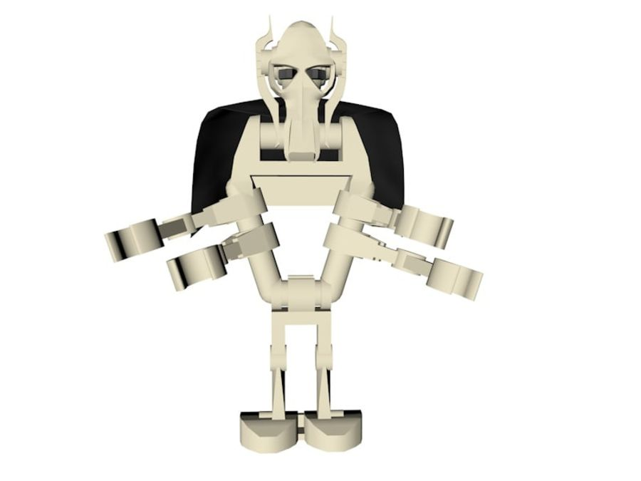 LEGO Star Wars Grevious Character royalty-free 3d model - Preview no. 1