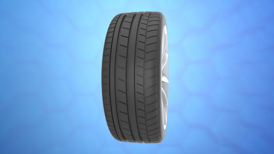Car tesla model 3 wheel royalty-free 3d model - Preview no. 3