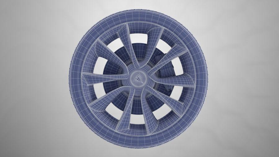 Car tesla model 3 wheel royalty-free 3d model - Preview no. 9