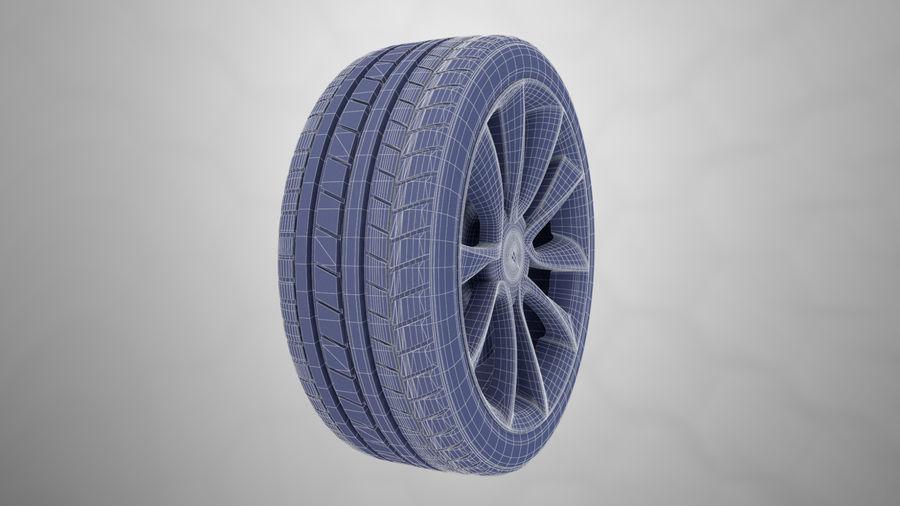 Car tesla model 3 wheel royalty-free 3d model - Preview no. 10