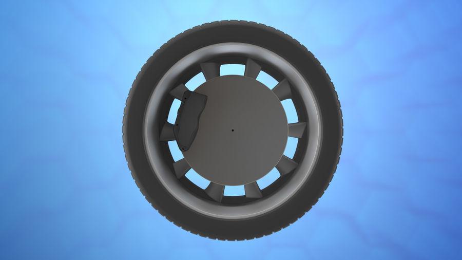 Car tesla model 3 wheel royalty-free 3d model - Preview no. 2
